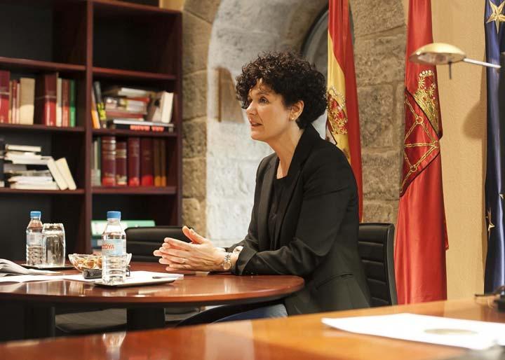 La presidenta de la Cámara de Comptos de Navarra